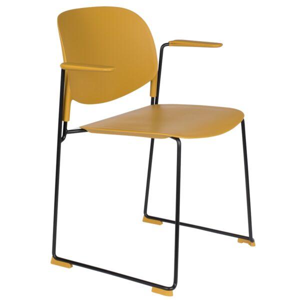Stacks fotel, okkersárga