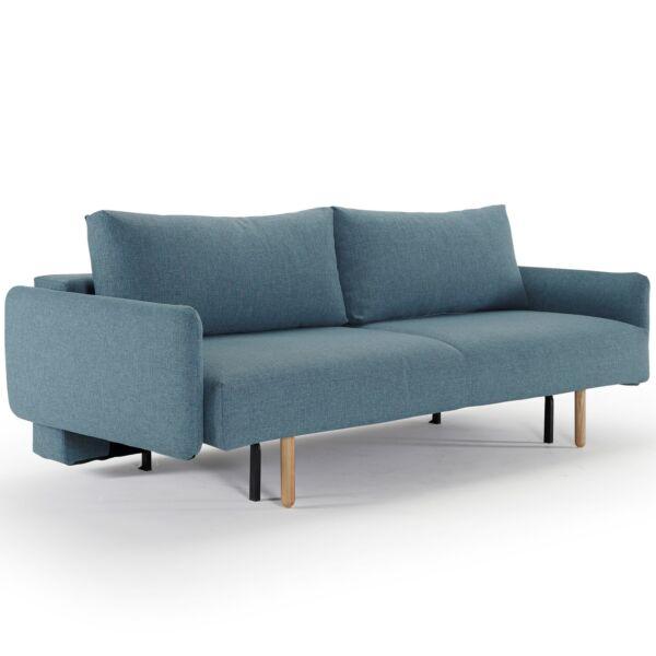 Frode karfás ágyazható kanapé, világoskék