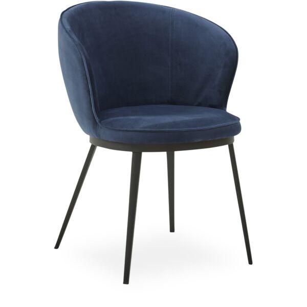 Gain szék, sötétkék bársony