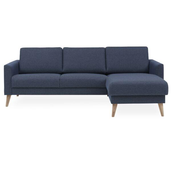 Lotus ottomános kanapé, jobbos, sötétkék szövet
