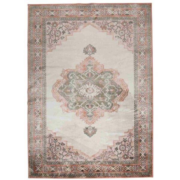 Mahal szőnyeg, rózsaszín/olivazöld, 170x240 cm