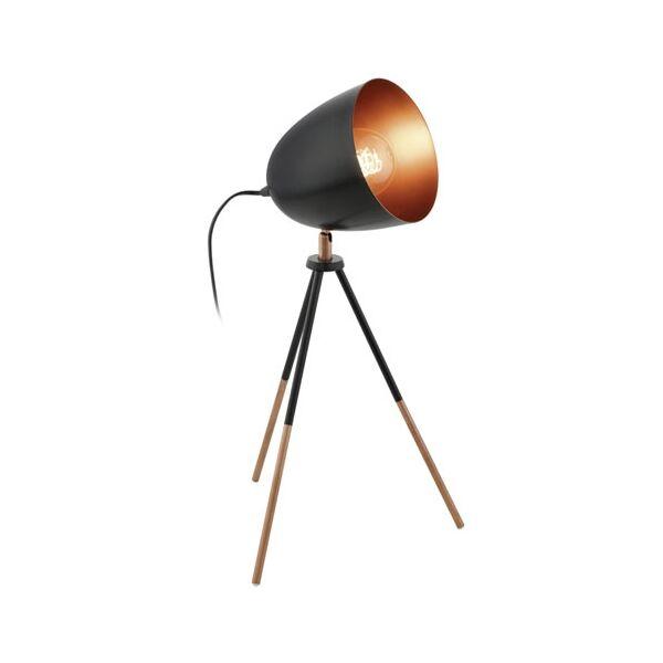 Chester asztali lámpa, fekete/réz