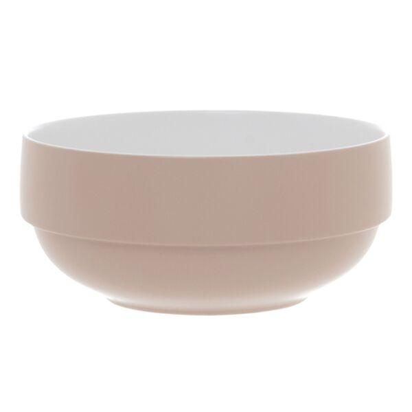 Salátás tál, Rózsaszín/fehér porcelán