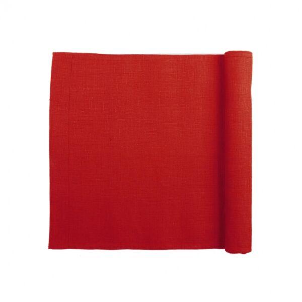 Diana damaszt asztali futó, piros damaszt