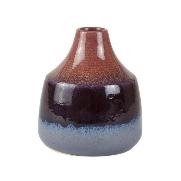 Színátmenetes váza, Rózsaszín/lila/kék kerámia