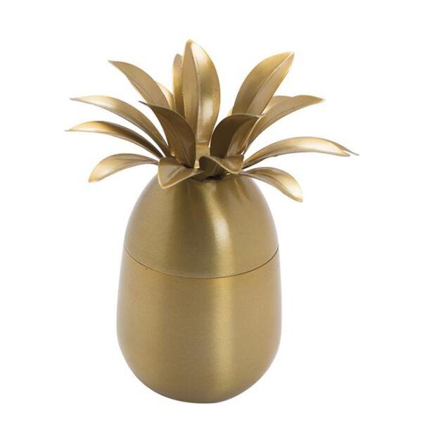 Illatgyertya ananász alakú tégelyben