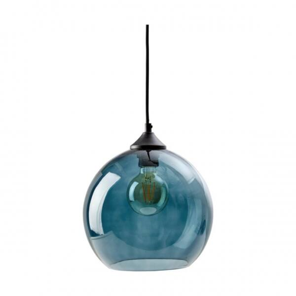 Como függőlámpa, kék üveg, D30cm