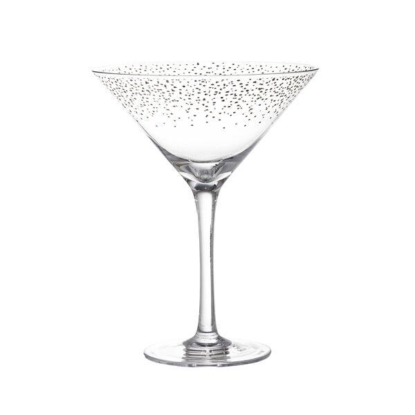 Koktélos pohár, arany üveg