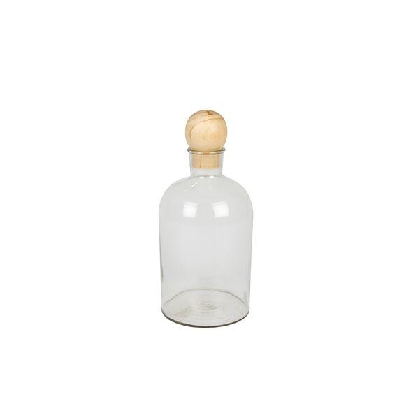 Moderna üveg fa golyóval, átlátszó üveg