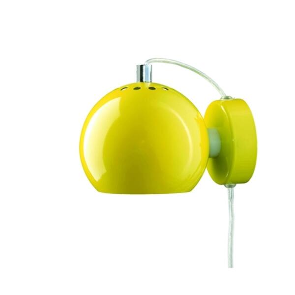 Ball fali lámpa, fényes sárga