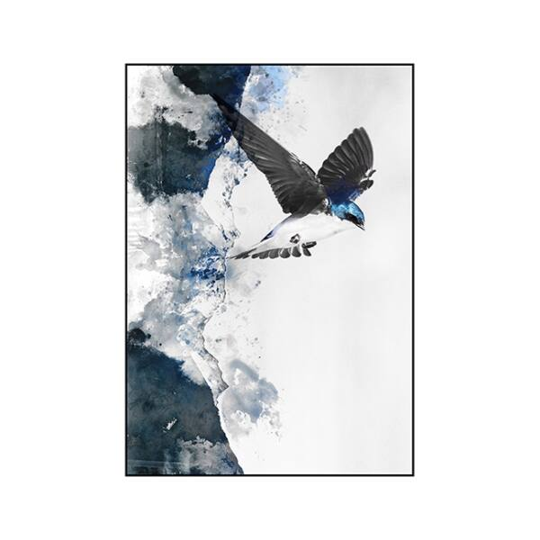 In flight kép, Fekete 70x100 cm