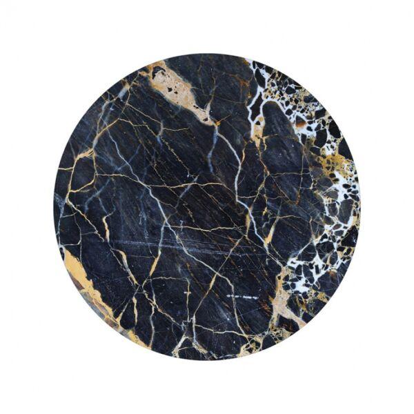 Black marble kép, D40cm