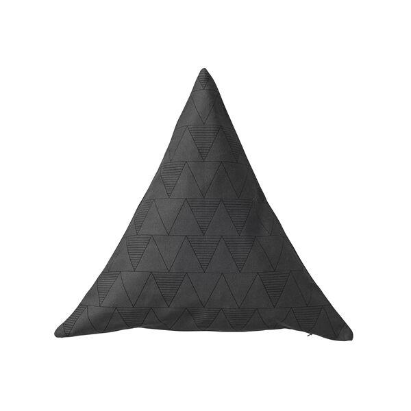 Háromszög díszpárna, Szürke