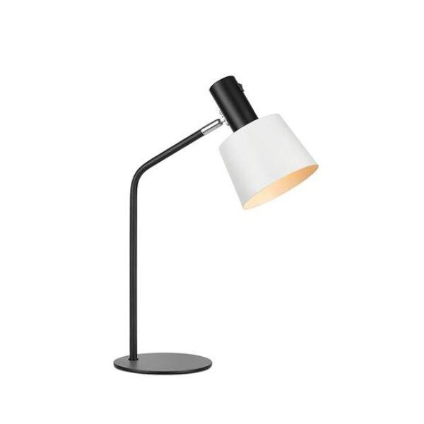 Bodega asztali lámpa, fekete/fehér fém