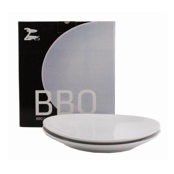 BBQ tányér 2db-os szett, fehér porcelán