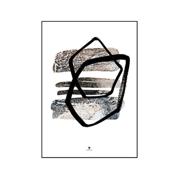 Abstract 3 kép, Fekete 50x70 cm