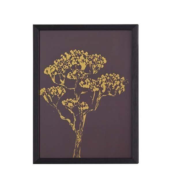 Arany színű fa kép, Arany/Barna 30x40 cm