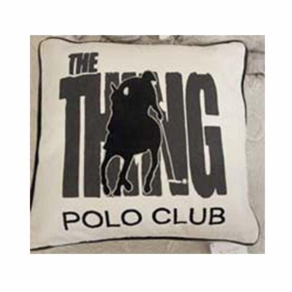 Polo Club díszpárna, krém/Szürke/fekete