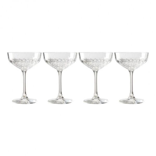 Demantur Koktélos 4db-os pohár készlet, üveg