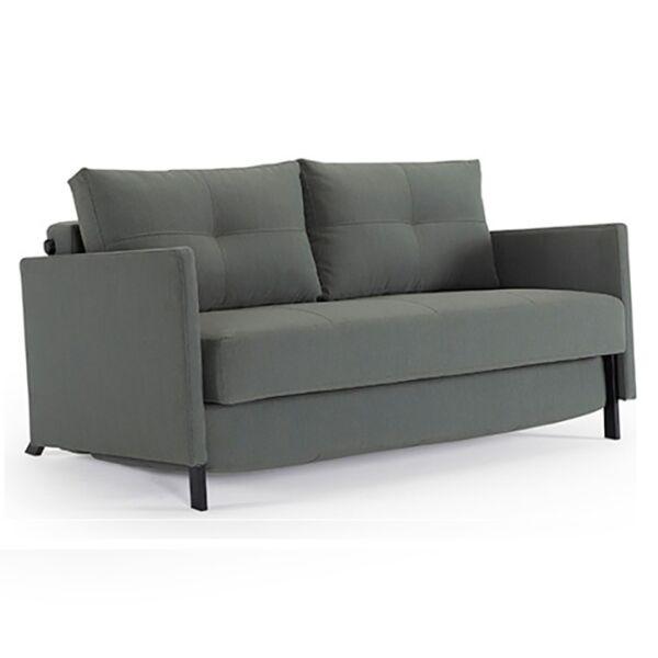 Cubed 140 kanapéágy, elegáns zöld szövet