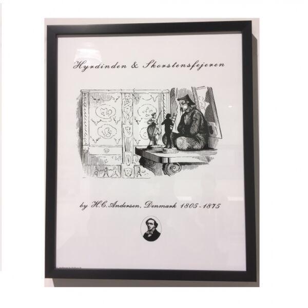 H. C. Andersen kép, Fekete