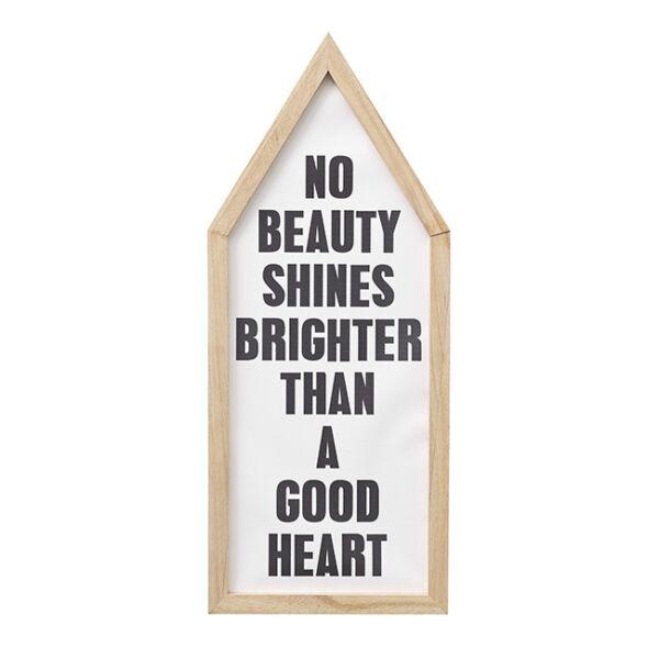 """No beauty..."" kép, Natúr 25x60 cm"