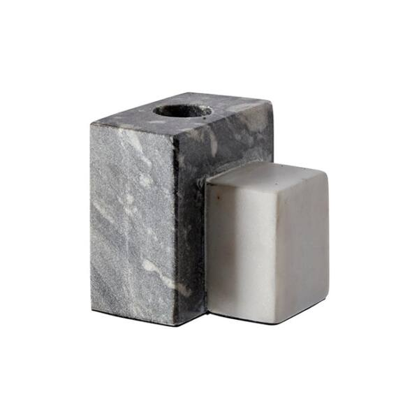 Bertin gyertyatartó, fekete/fehér márvány