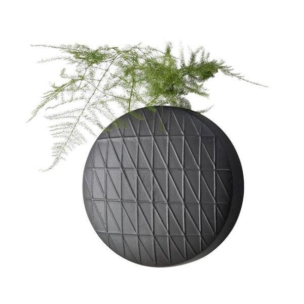 Leonel függőkaspó, fekete kő