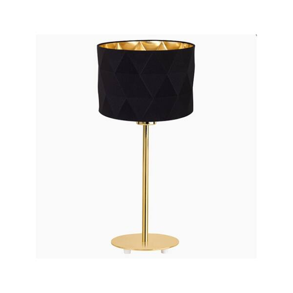 Dolorita asztali lámpa, fekete/arany textil