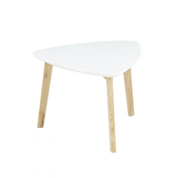 Vitis lámpaasztal, fehér
