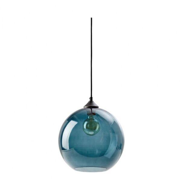 Como függőlámpa, kék üveg, D25cm