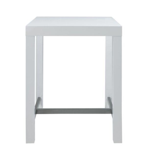 Angela bárasztal 80x80, magasfényű fehér