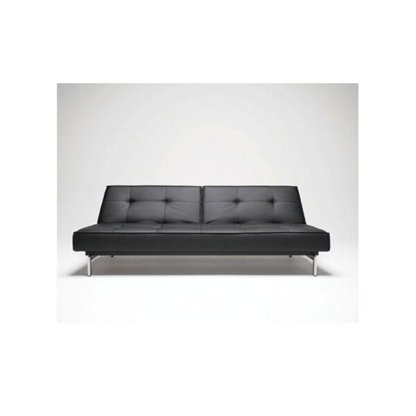 Splitback kanapéágy Fekete textilbőr