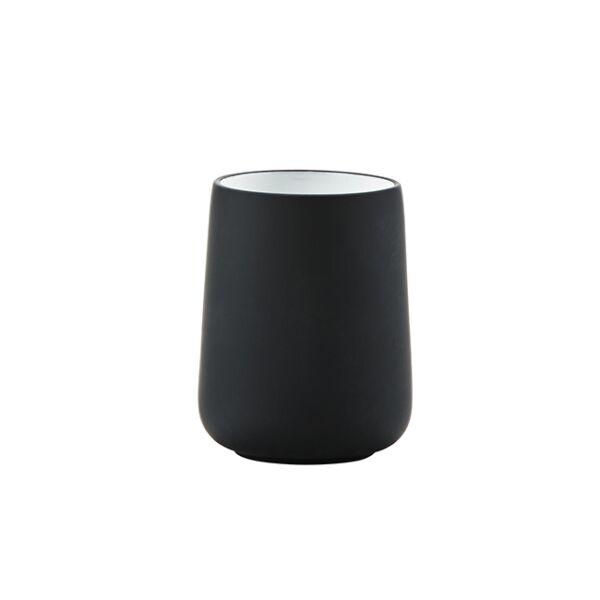 Nova fogmosópohár, fekete porcelán