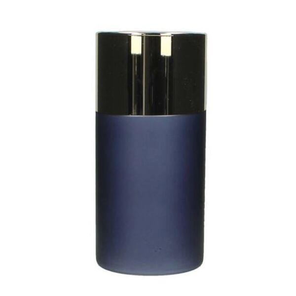 Gyertyatartó, kék/arany üveg