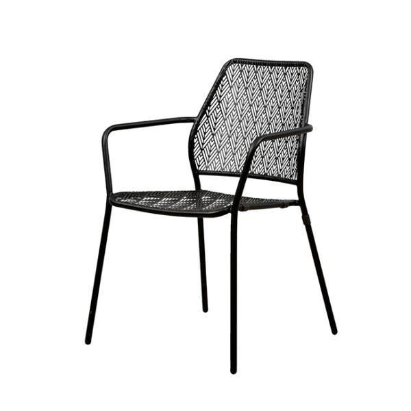 Collins kerti szék, fekete fém