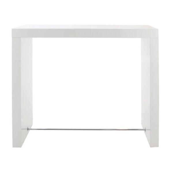 Block bárasztal fényes fehér, magasfényű fehér