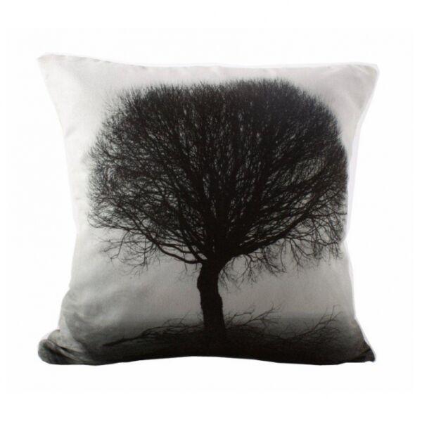 Tree díszpárna, fekete/fehér
