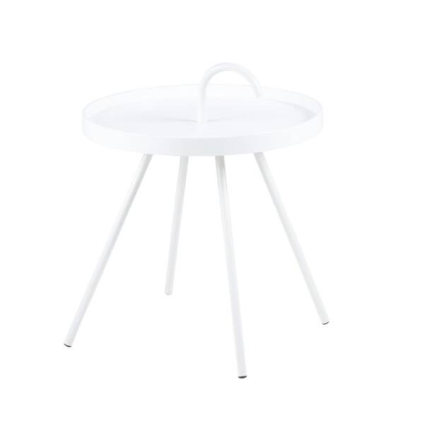Mico lámpaasztal, fehér