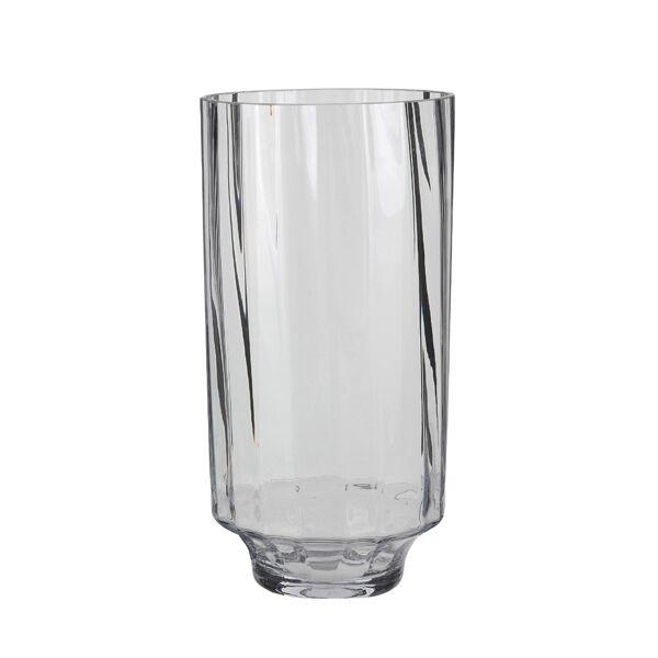 Rosa váza, átlátszó üveg
