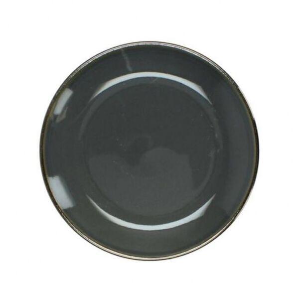 Szürke desszertes tányér, kerámia