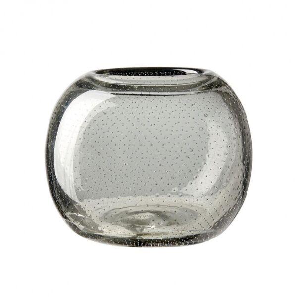 Uma mécsestartó, szürke üveg