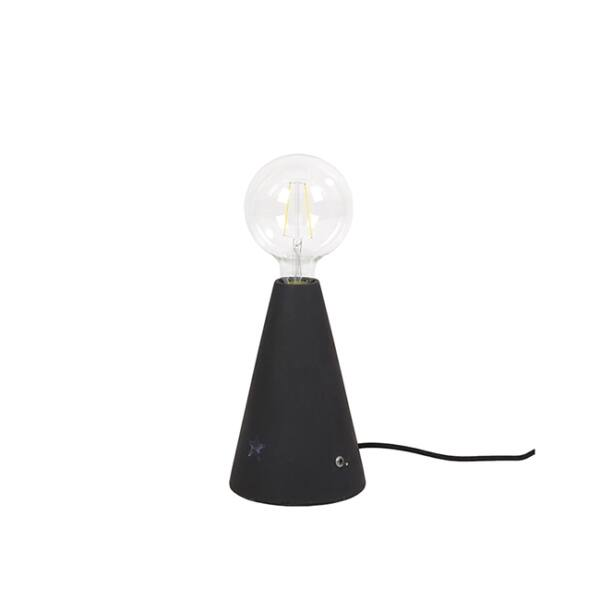 Cone asztali lámpa, fekete beton