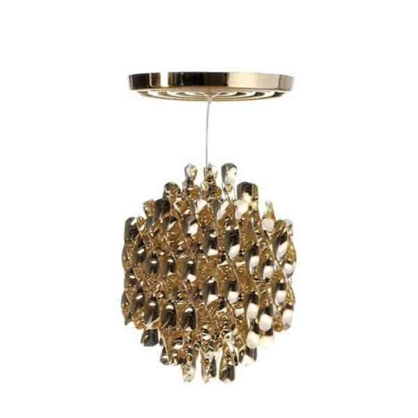 Verner Panton Spiral SP1 függőlámpa, arany