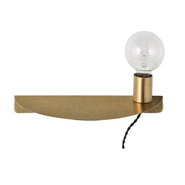 Sárgaréz fali lámpa, aranyozott