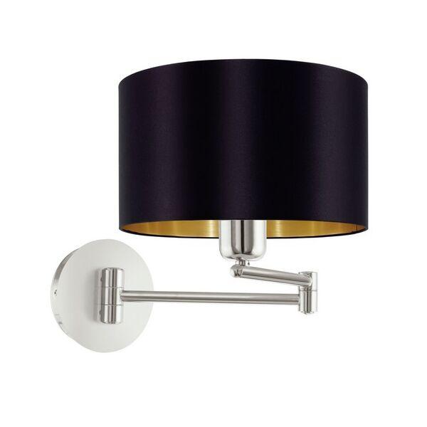 Maserlo fali lámpa, fekete/arany