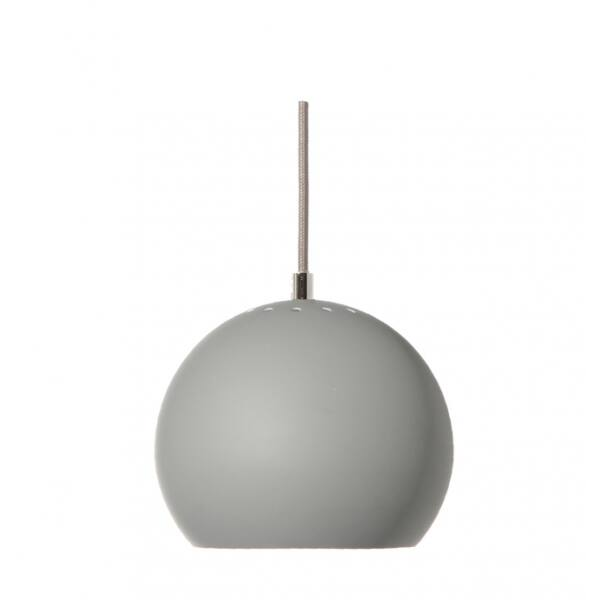 Ball függőlámpa, matt világosszürke fém
