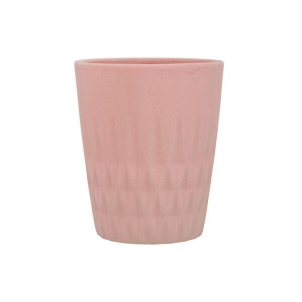 Alberte csésze, Rózsaszín kerámia