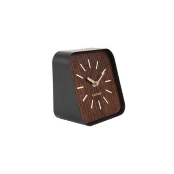 Squared asztali óra, fekete/Sötét fa